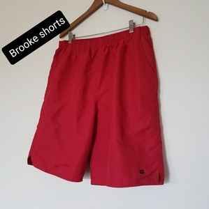 3 for $30❤Brook men's swim shorts size XL red
